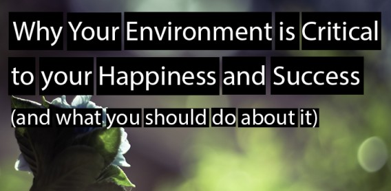 Why Your Environment is Critical to your Happiness and Success (and what you should do about it)